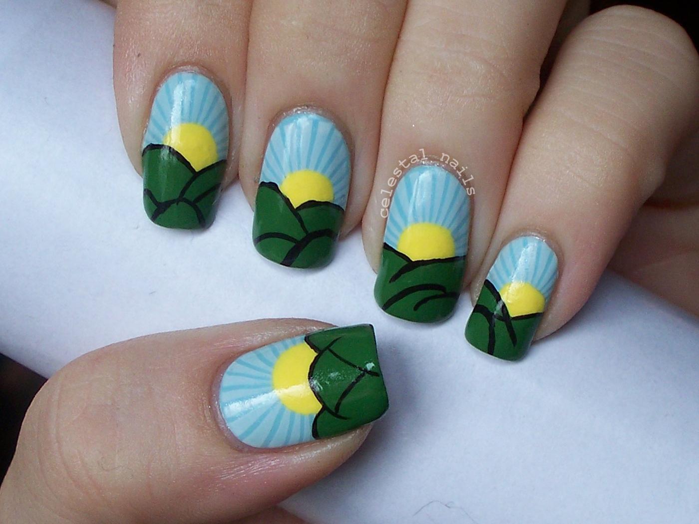 Sunny Days Nail Art | Celestal Nails