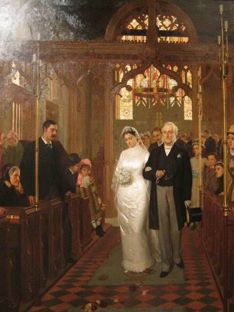 Edmund Blair Leighton,wedding,Catholic church