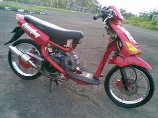 modifikasi mio drag race