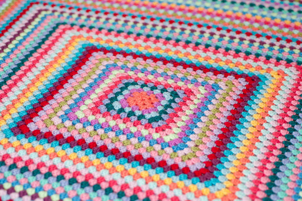 Free Crochet Pattern For Giant Granny Square Afghan : thistlebear: Giant Granny Square