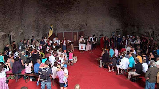 opening of the medieval castle festival at Rhenfels Castle in St Goar