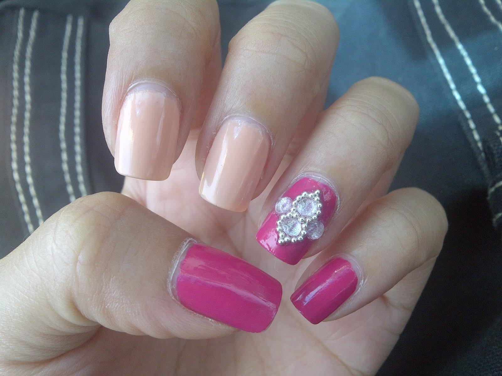raksasa hijau: Pink Wednesday : Japanese Inspired Nail Art. :)