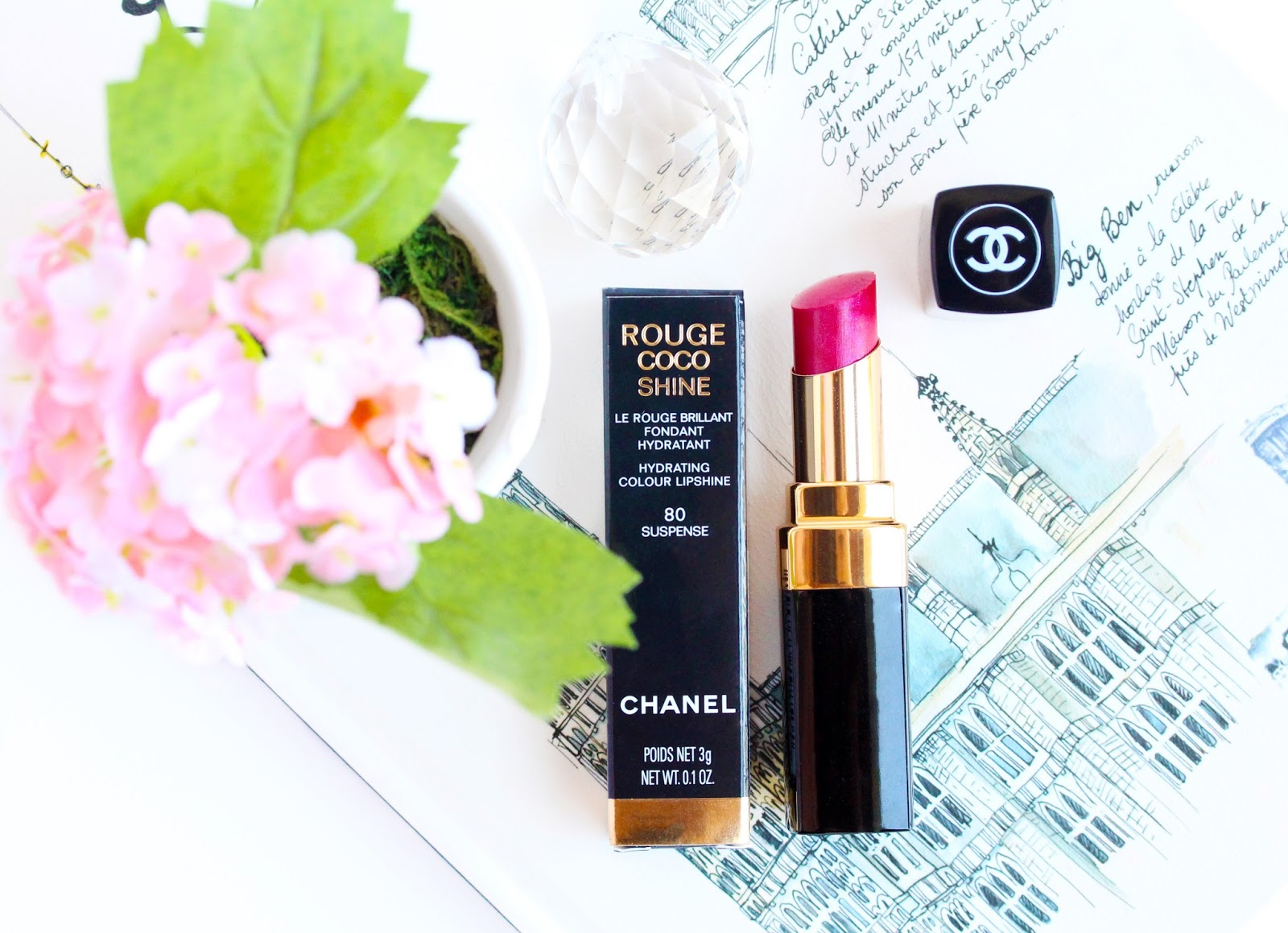 Chanel Rouge Coco Shine Lipstick in Suspense