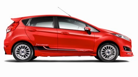 The new Ford Fiesta 1.0L comes in a variety of bold new colours