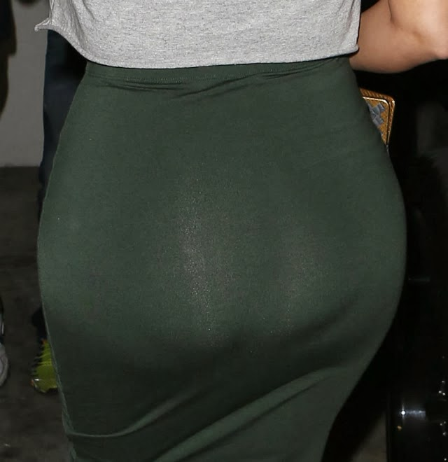 Kim Kardashian luce un trasero muy extraño