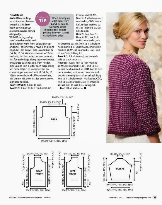 Вязание спицами пиджаки схемы