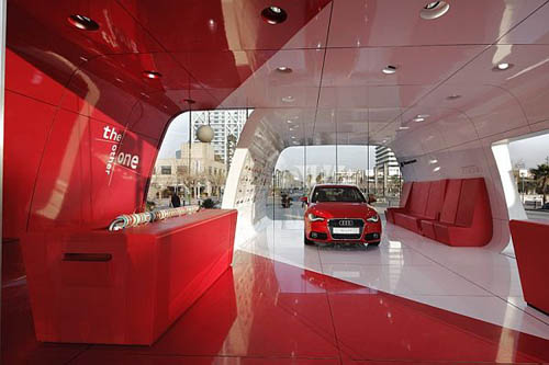 Audi AreA1 The Amazing Looking Showroom Barcelona