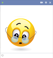 Spectacle emoticon for Facebook