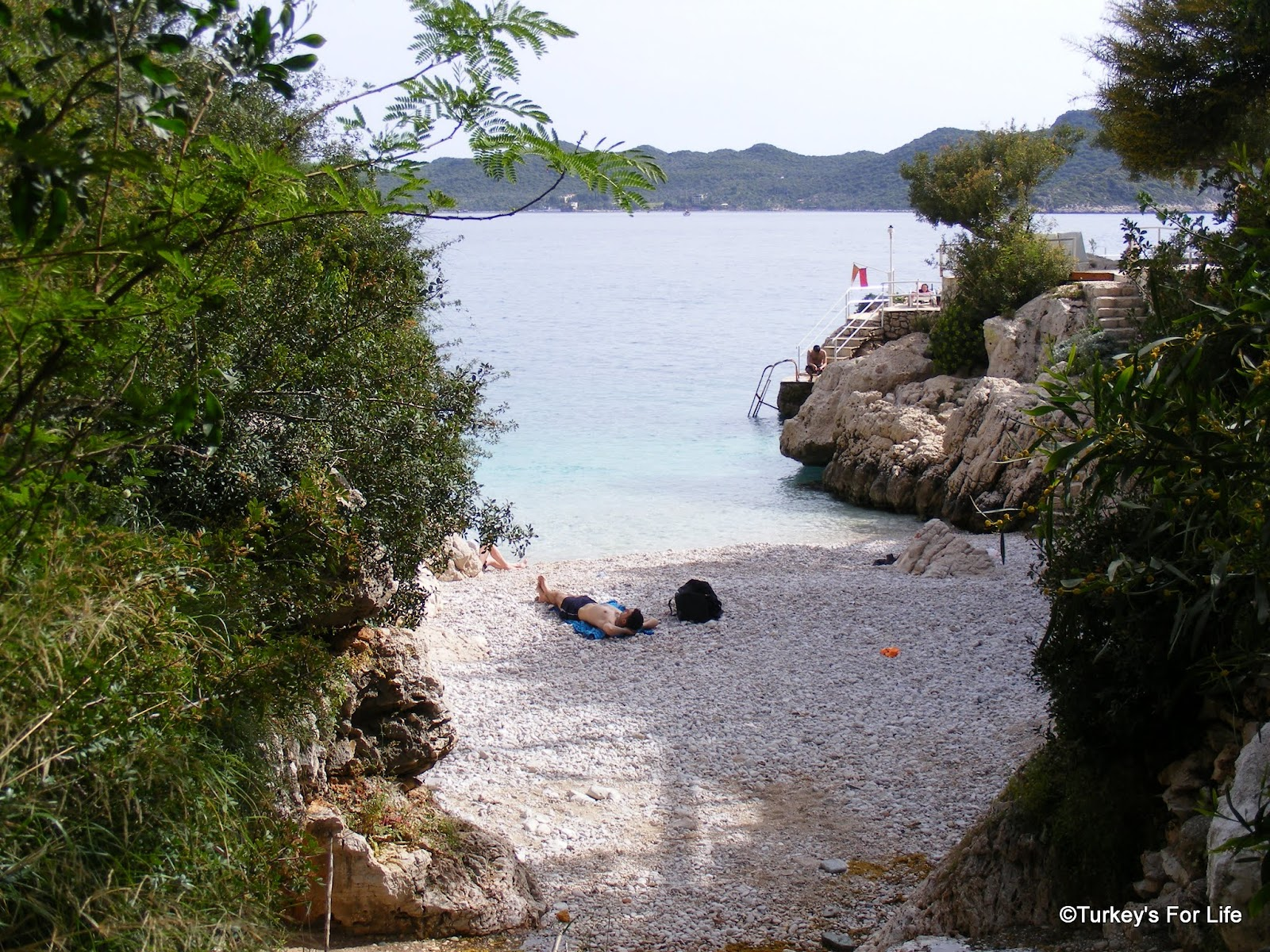 Two Kaş Beaches - Little Pebble Beach And Big Pebble Beach ...