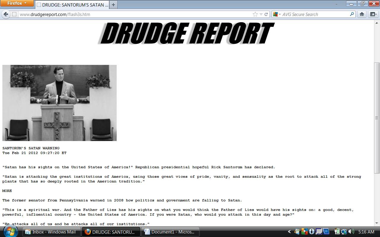 Grunge Report Drudge Report Website Built With Wordpress Wp Drudge