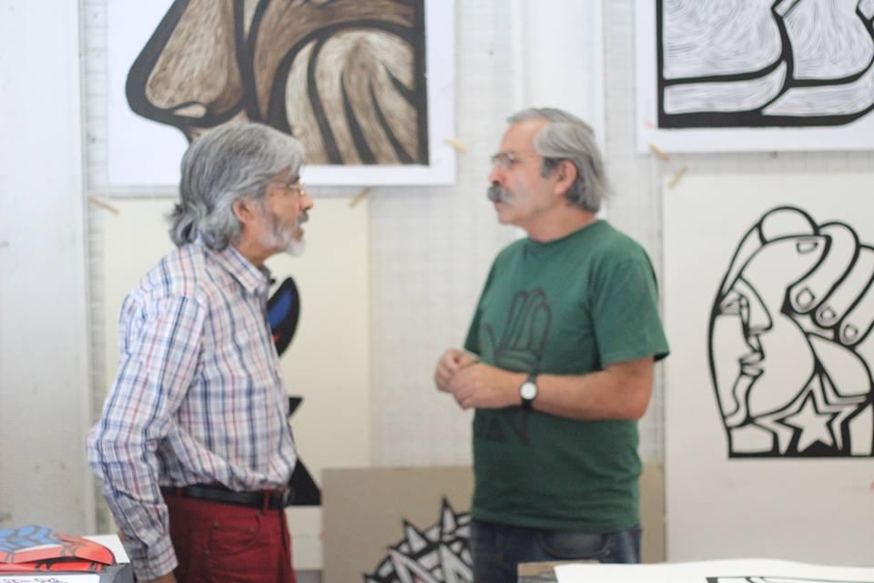 Con Alejandro González ( mono)