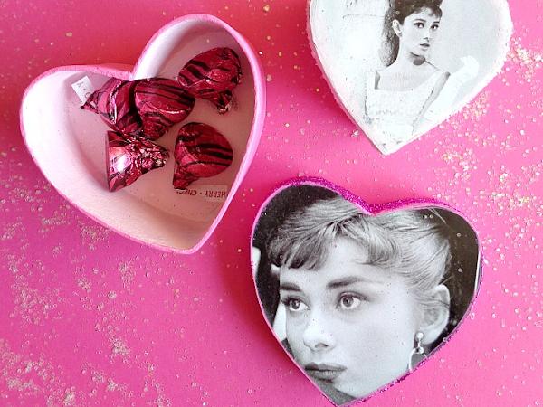 DIY: Calendar Paper Mache Heart Boxes