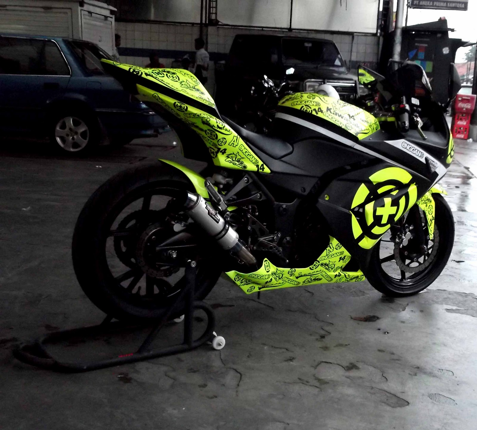 Design sticker ninja 250 - Ninja 250 Iannone Replika