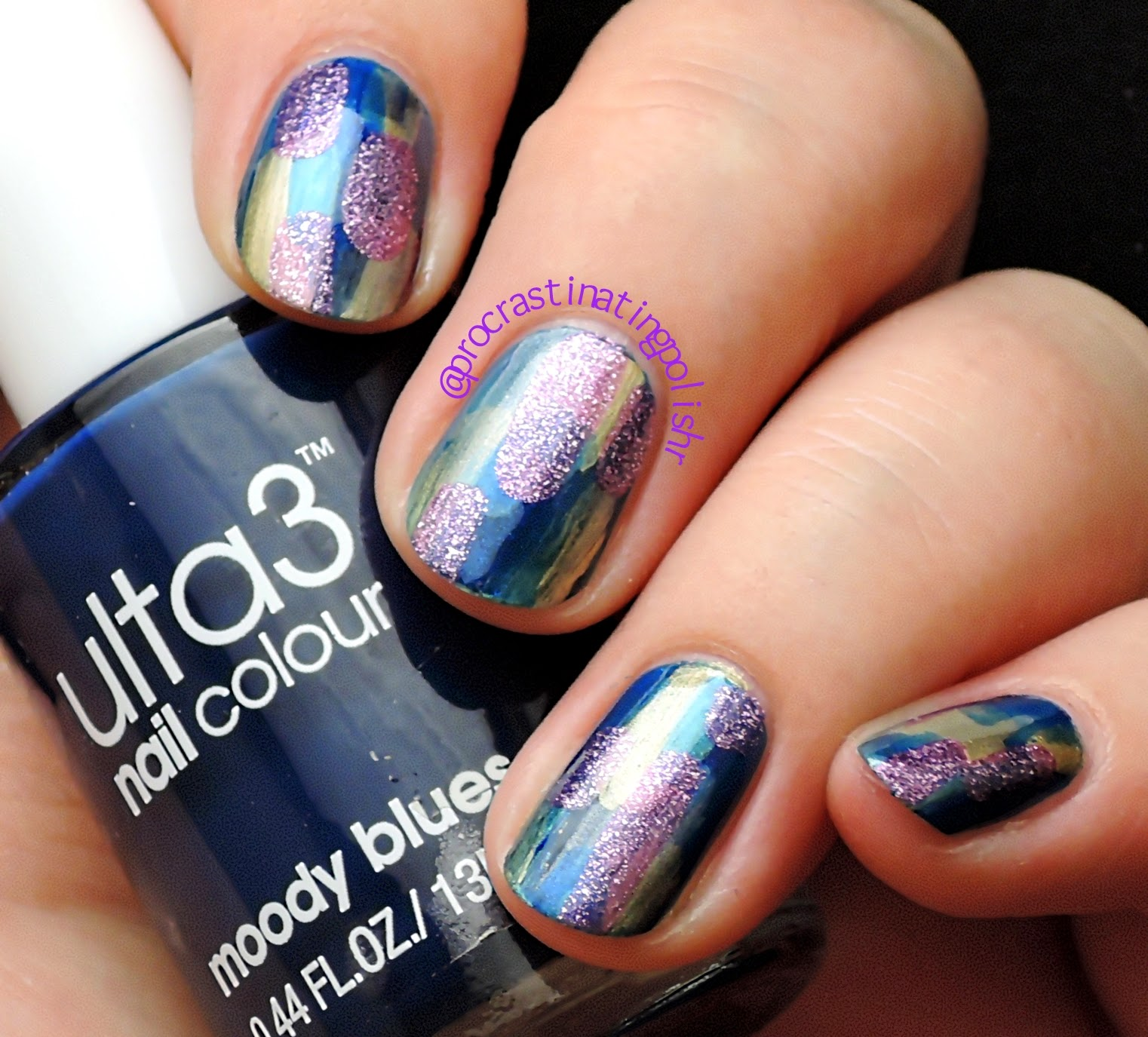 Brush stroke nail art with Ulta3