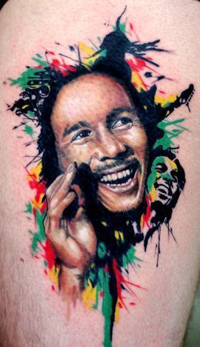 Tatuaje de Bob Marley