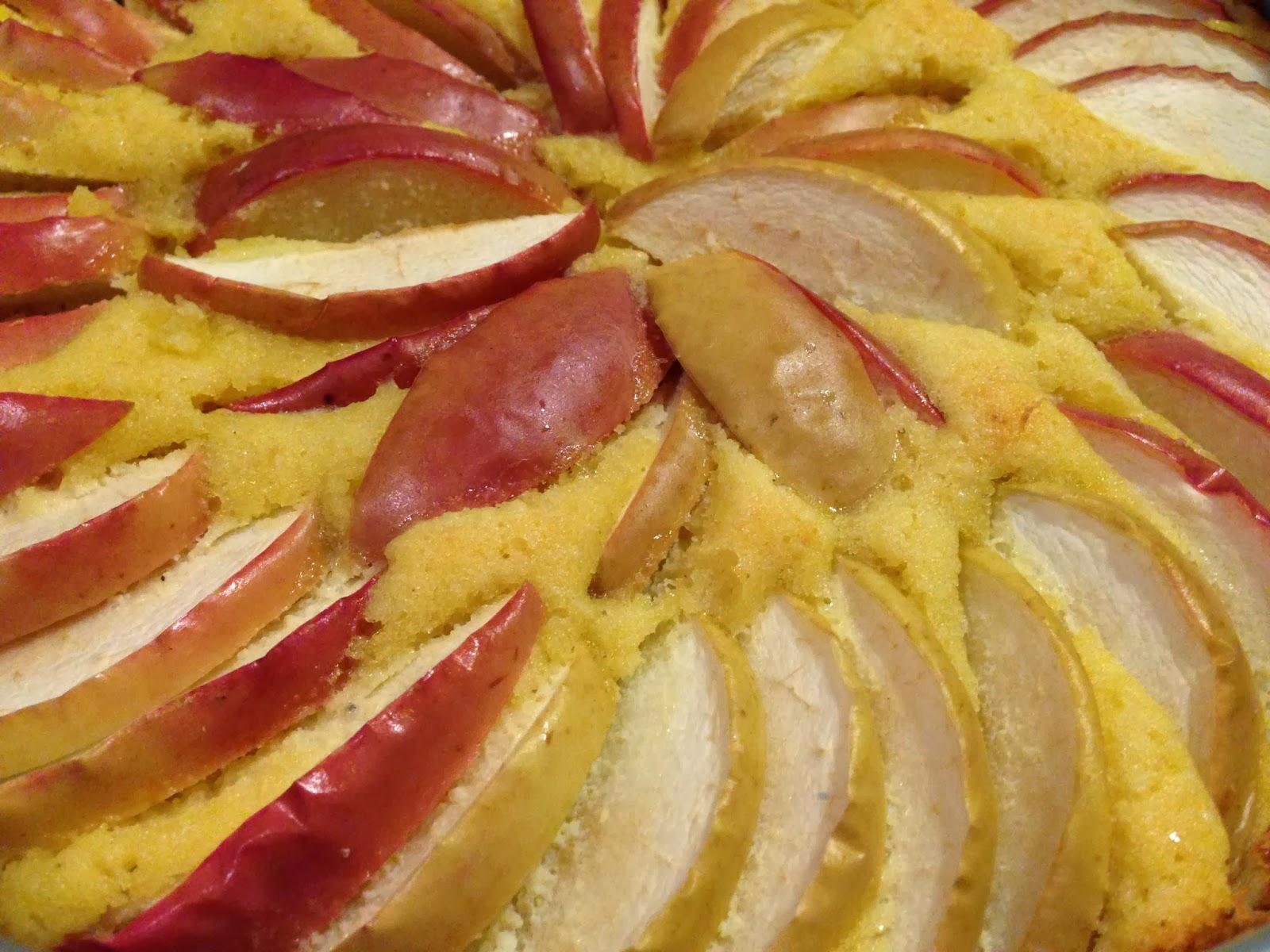 äppelpaj med mandelmjöl