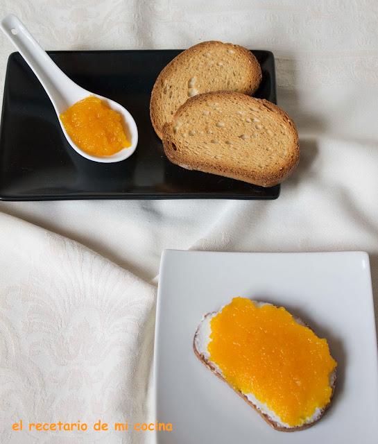 mermelada de calabaza al aroma de vainilla