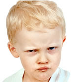 Caritas de bebés enojados