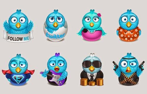 Freebie Twitter Icon Sets