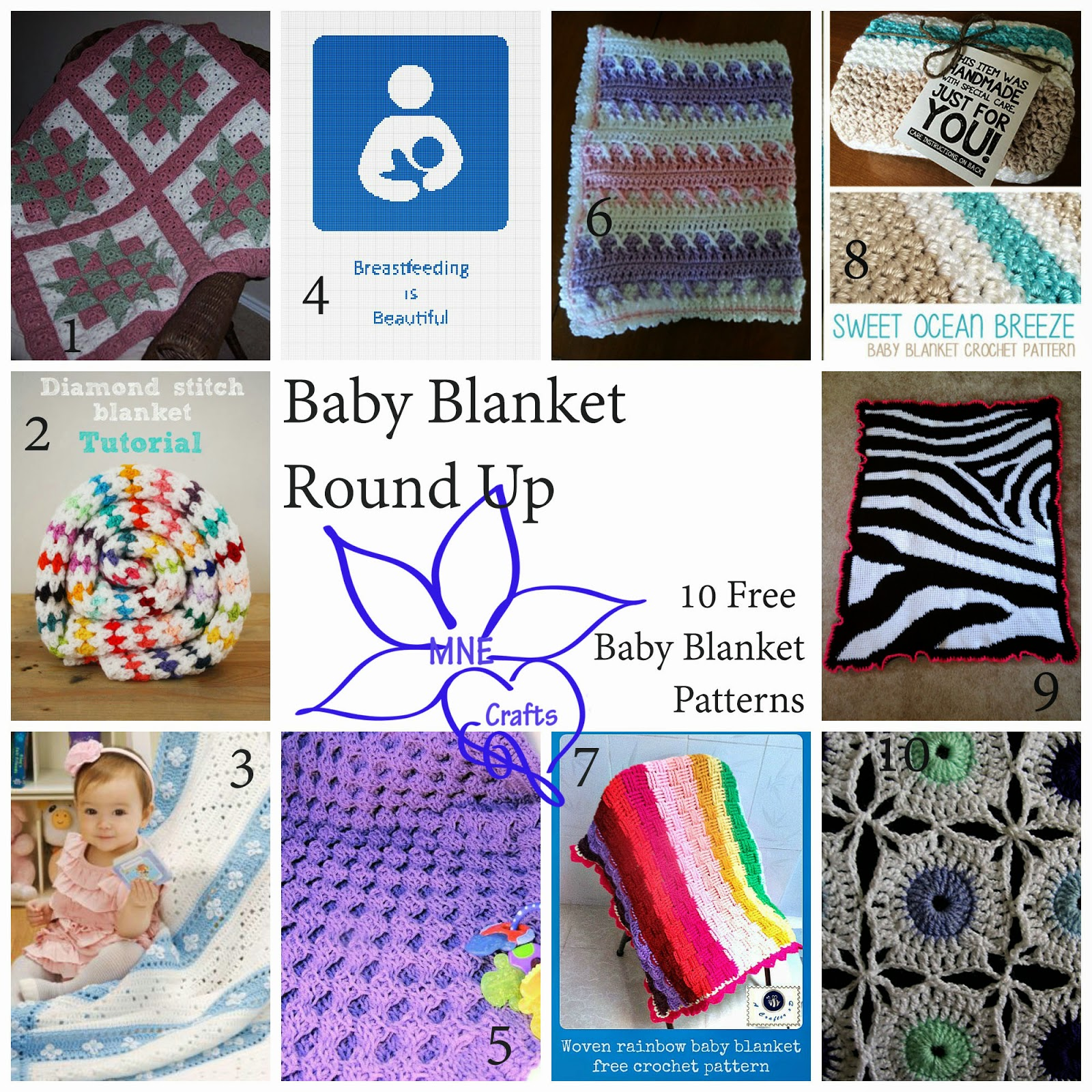 MNE Crafts: Baby Blanket Round Up - 10 Free Patterns
