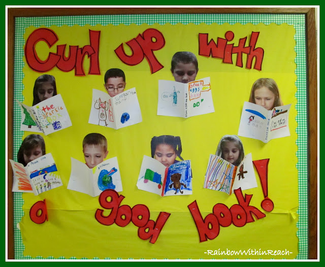 photo of: Curl Up With a Good Book Bulletin Board via RainbowsWithinReach RoundUP of Christmas Bulletin Boards