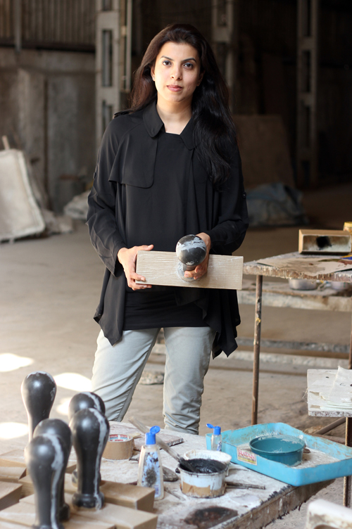 Mumbai-based artist Reena Kallat working with the form and image of the rubberstamp as a marker