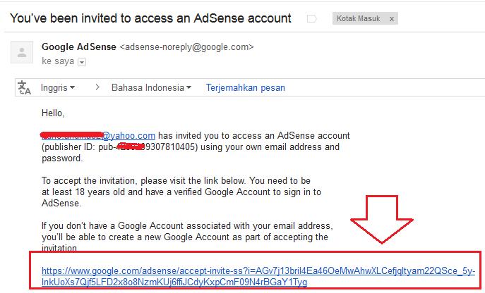 invite blog adsense