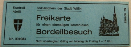 Bordellfreikarte &#169; Sistlau
