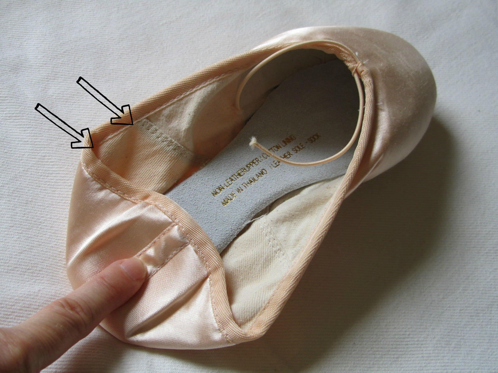 How To Sew Elastic And Ribbons On Toe Shoes