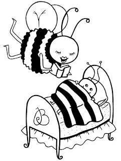 riscos de abelhas e flores