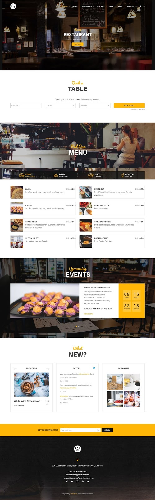 Best WordPress Theme for Restaurant and Cafe