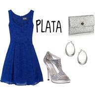 Vestido azul rey con que accesorios