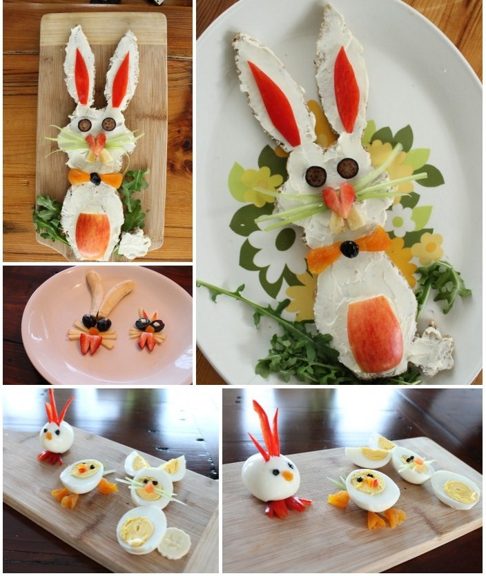 kids Easter snacks and bunny meals