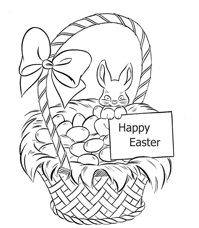 Easter Basket Coloring Pages Free Coloring Pages