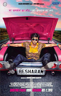 Besharam 2013 movie poster