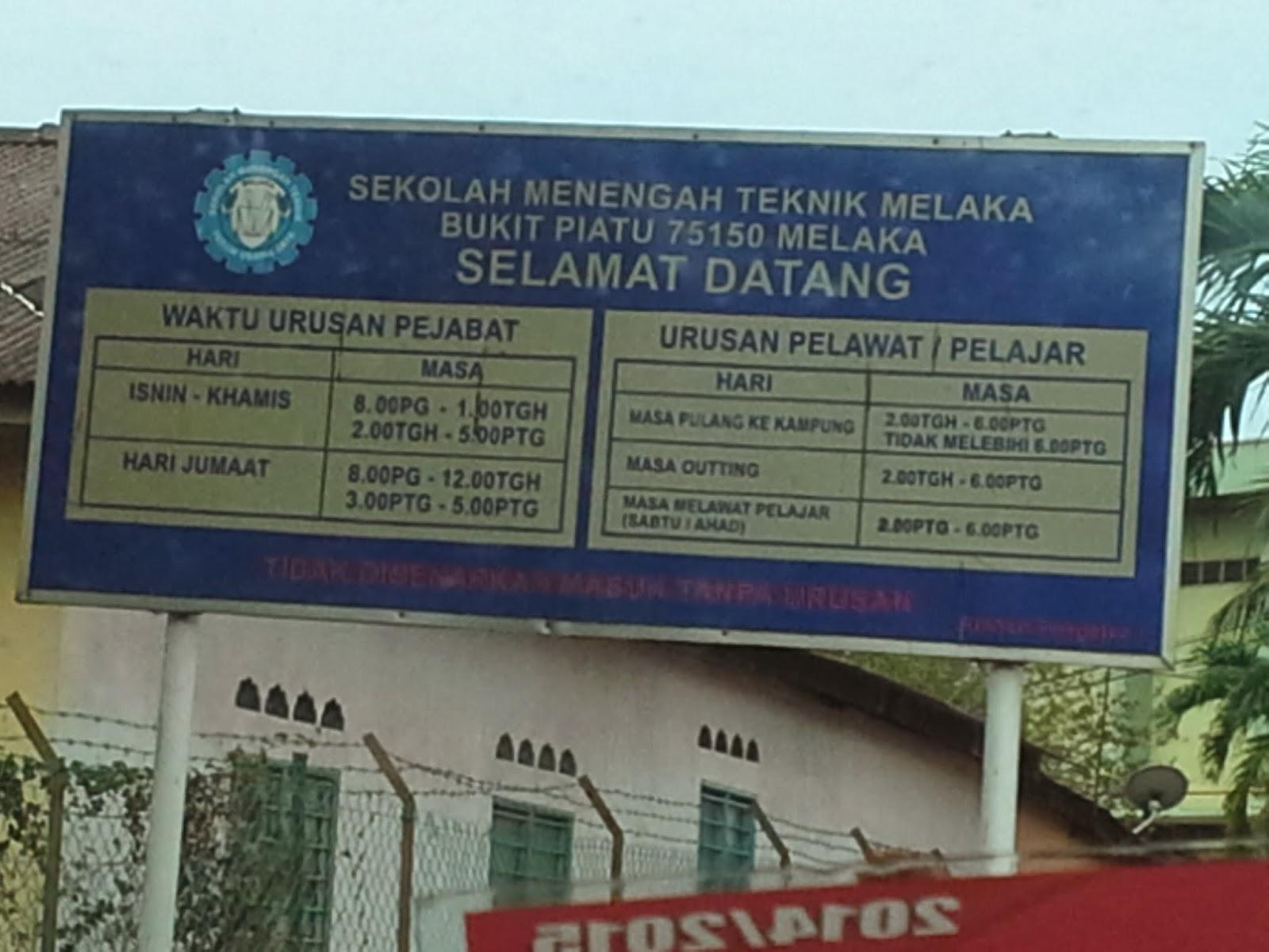 Hi 5mommytellsstories Sekolah Menengah Teknik Bukit Piatu Melaka