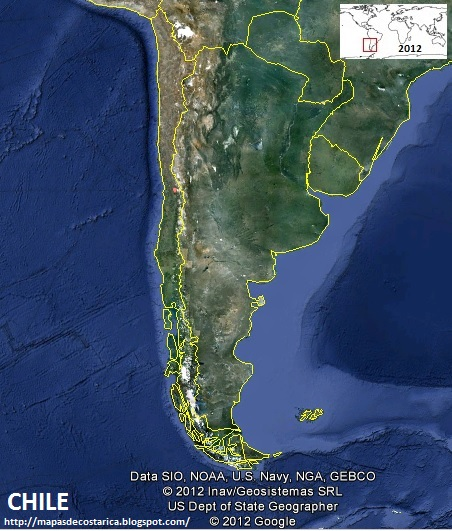 Mapa de CHILE , Google Earth