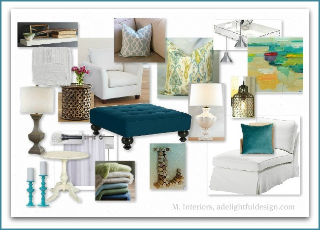 Abby manchesky interiors my work on hgtv grey and teal for Room design mood board