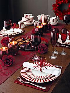 decoração mesa natal