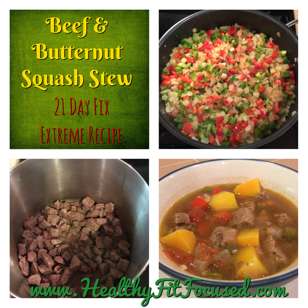 Beef and Butternut Squash Stew - 21 Day Fix Extreme Recipe