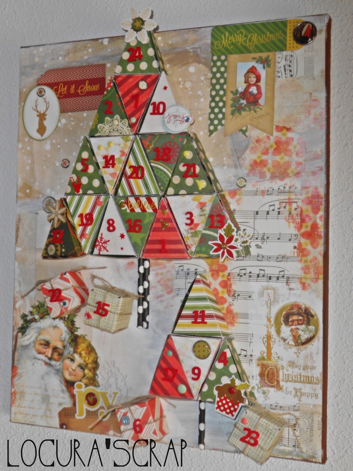 Locura 39 scrap blog dedicado al scrapbooking y for Calendario manualidades