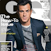 JUSTIN THEROUX COVERS 'GQ' MAGAZINE OCTOBER ISSUE