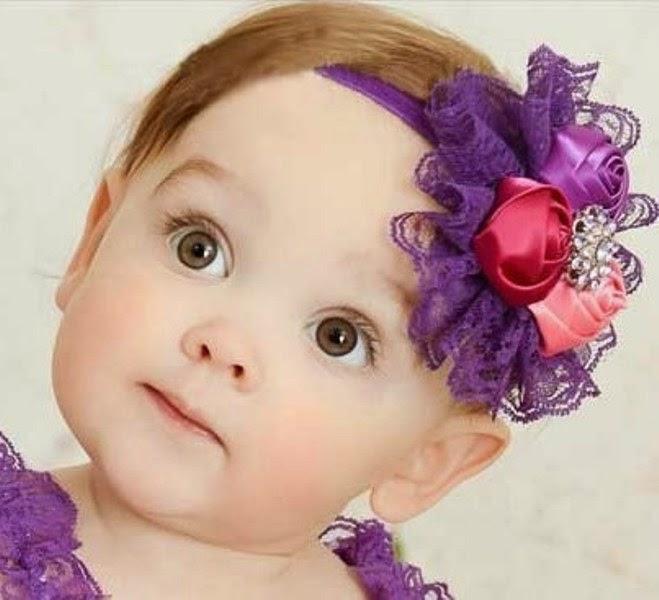 Bandana bayi lucu warna ungu cantik sekali