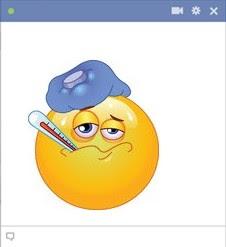 emoticon Facebook sakit