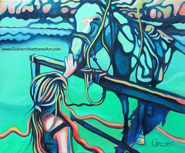 Little Horse Whisperer - Painting