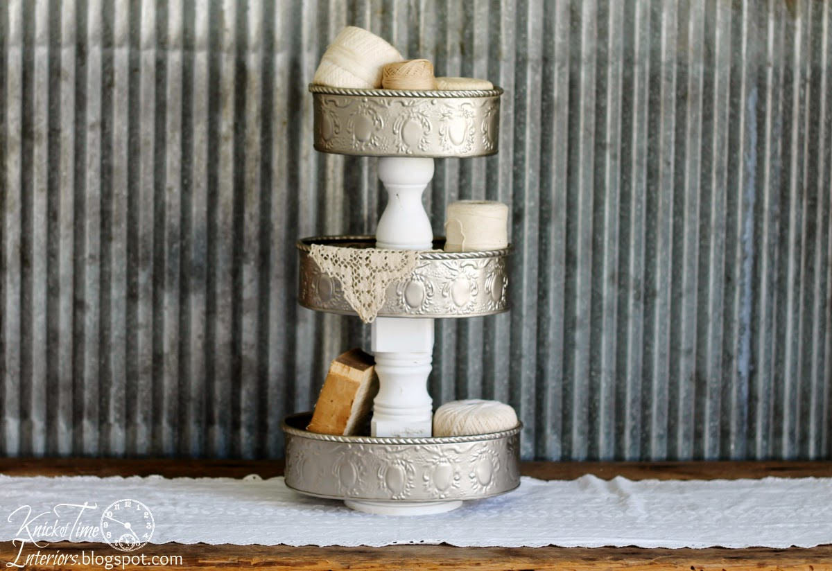 Repurposed Tins Tiered Stand