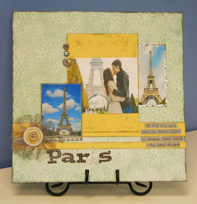 Oh my crafts blog paris layout - Scrapbooking paris boutique ...