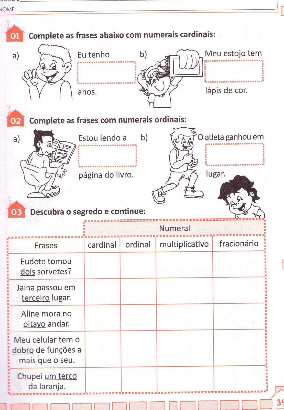 Well-known Blog Professor Zezinho : Números Cardinais,ordinais  WA52