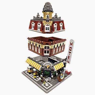 Dag's Bricks: LEGO Techniques - Building a Cafe Corner 10182
