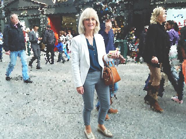 Older stylish woman on Grafton Street Dublin